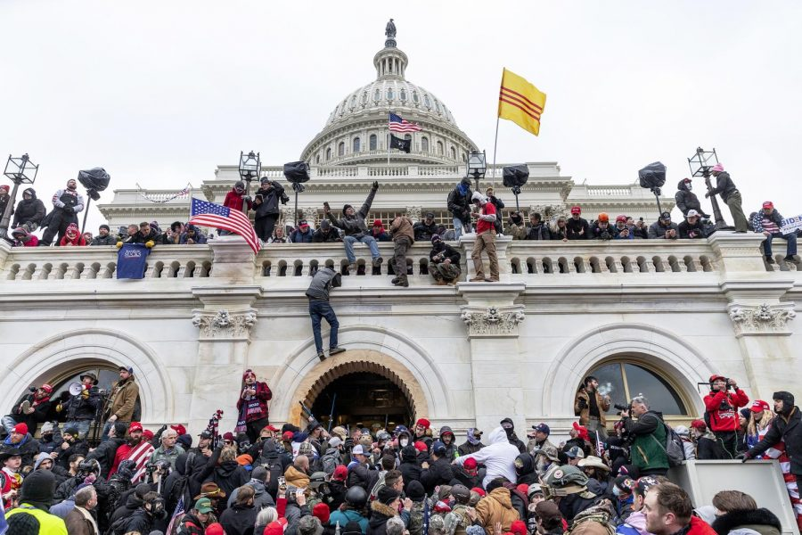 Protestors storm the U.S. Capitol on January 6th, 2021.